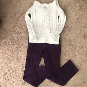 Girls Hooded Sweater and Pants Set